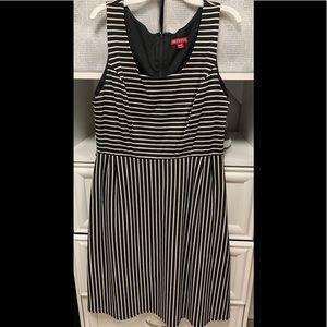 Merona Black and White Stripe Sleeveless Dress